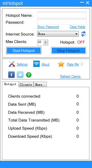 mHotspot(WIFI共享软件)