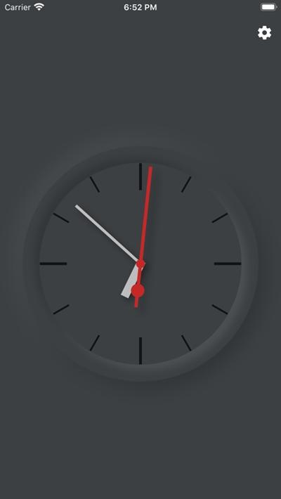 模拟时钟全屏时钟显示