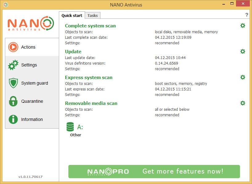 NANO Antivirus v1.0.134.90655