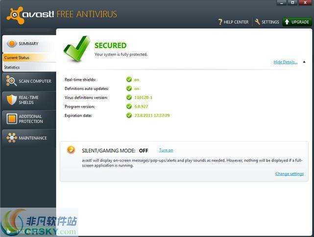 Avast! Free Antivirus v20.4.5312.0