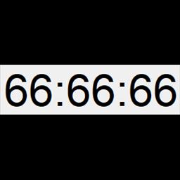 全屏数字时钟软件 v1.0