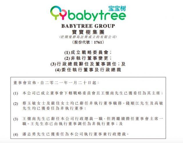宝宝树治理组织升级:董事长牵头成立战略委员会